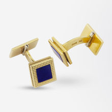 Load image into Gallery viewer, Pair of 18k Gold and Lapis Lazuli Cufflinks by Piaget