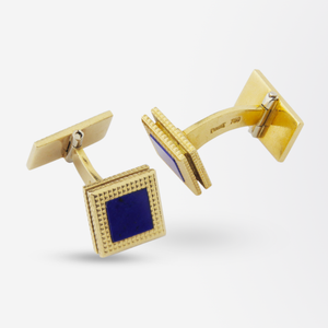 Pair of 18k Gold and Lapis Lazuli Cufflinks by Piaget
