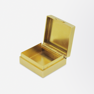 22kt Yellow Gold Box with Diamond Push Closure