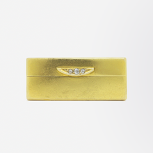 Load image into Gallery viewer, 22kt Yellow Gold Box with Diamond Push Closure