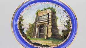 Micromosaic Arch of Titus Pin - The Antique Guild