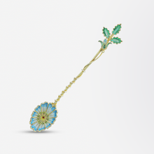 Load image into Gallery viewer, Russian Gilded Plique-a-Jour Spoon