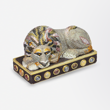 Load image into Gallery viewer, Judith Leiber Embellished Lion Clutch Purse