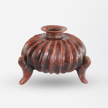 Load image into Gallery viewer, Pre-Columbian Colima Slip-Glazed Earthenware Tripod Vessel