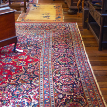 Load image into Gallery viewer, Iranian Red & Blue Mashad Rug
