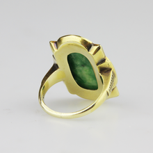 Load image into Gallery viewer, Jade Art Deco Ring - The Antique Guild