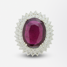 Load image into Gallery viewer, Impressive Ruby and Diamond Cocktail Ring