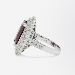 Impressive Ruby and Diamond Cocktail Ring