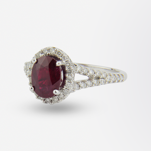 14kt Ruby and Diamond Ring