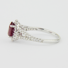 Load image into Gallery viewer, 14kt Ruby and Diamond Ring