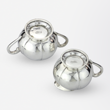 Load image into Gallery viewer, Sterling Silver Sugar and Creamer