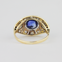 Load image into Gallery viewer, 18k Gold Ceylon Sapphire, Diamond Ring