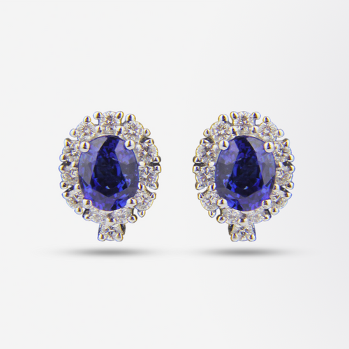 18kt Sapphire and Diamond Earrings