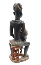 Load image into Gallery viewer, Life-Size Carved Wooden Figure with Lidded Vessel - The Antique Guild