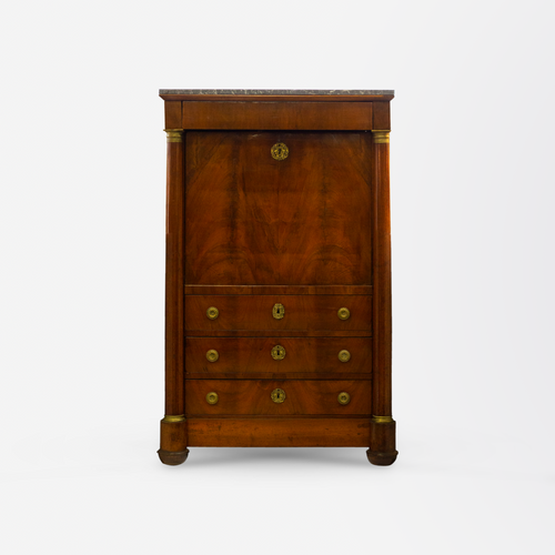 19th Century French Mahogany Secretaire Abattant
