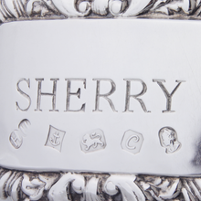 "Load image into Gallery viewer, Sterling ""Sherry"" Decanter Tag"