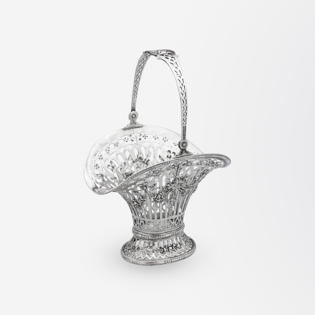 Pierced Silver Basket by Georg Roth of Hanau