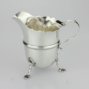 Small Sterling Silver Footed Jug - The Antique Guild