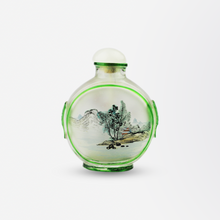 Load image into Gallery viewer, Reverse Painted Peking Glass Snuff Bottle