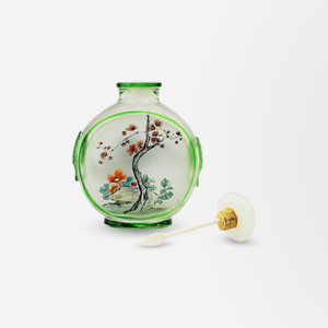 Reverse Painted Peking Glass Snuff Bottle