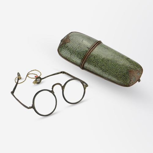 Chinese Spectacles in Shagreen Leather Case