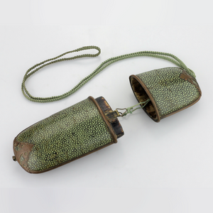 Chinese Spectacles in Shagreen Leather Case - The Antique Guild