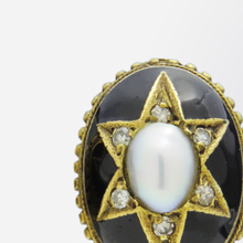 Load image into Gallery viewer, Pair of Victorian Pearl, Diamond and Enamel Earrings
