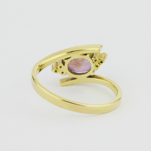 Load image into Gallery viewer, Star Ruby & Diamond Ring