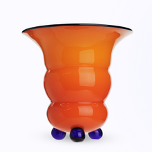 Load image into Gallery viewer, Art Deco Ribbed Tango Glass Vase by Loetz
