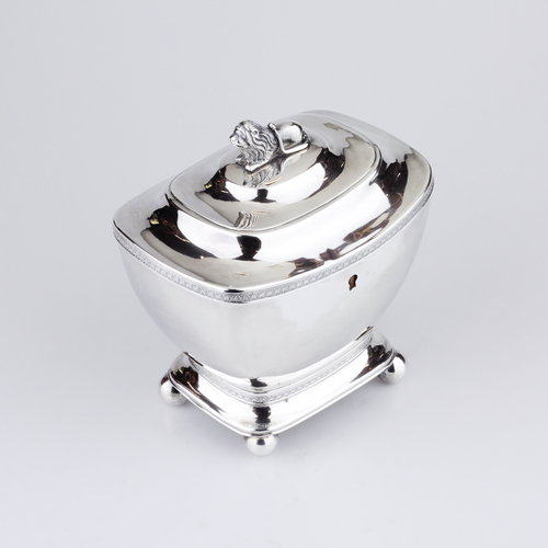 Dutch Neoclassical Silver Tea Caddy - The Antique Guild