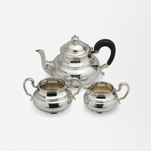 Three Piece Sterling Silver Tea Set