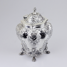 Load image into Gallery viewer, Sterling Silver Repousse Tea Caddy