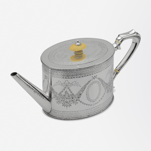 Sterling Silver Victorian Teapot by Charles and Daniel Houle