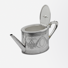 Load image into Gallery viewer, Sterling Silver Victorian Teapot by Charles and Daniel Houle
