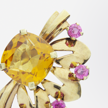 Load image into Gallery viewer, Retro Tiffany & Co. 14kt, Citrine and Tourmaline Earrings