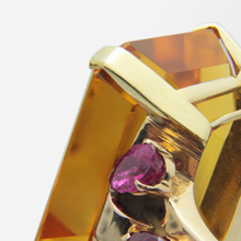 Load image into Gallery viewer, 1950s, Retro Tiffany & Co, Citrine and Ruby Cocktail Ring