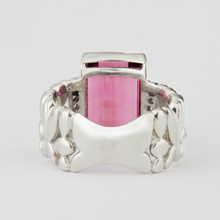 Load image into Gallery viewer, Platinum, Tourmaline & Diamond Ring