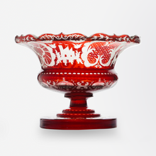Load image into Gallery viewer, Bohemian Ruby Glass Compote