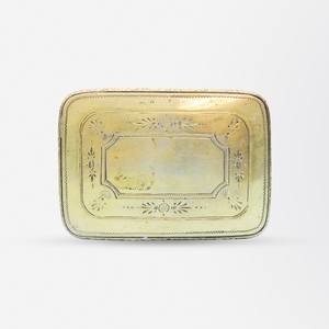 Sterling Silver Snuff Box with Queen Victoria Plaque