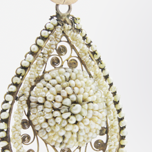 Load image into Gallery viewer, 19th Century, Italian Gold and Seed Pearl Earrings