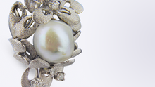 Load image into Gallery viewer, 14kt White Gold, Pearl and Diamond Earrings