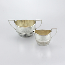 Load image into Gallery viewer, Sterling Sugar and Creamer with Monograms - The Antique Guild