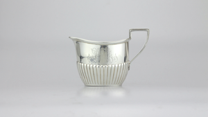 Sterling Sugar and Creamer with Monograms - The Antique Guild