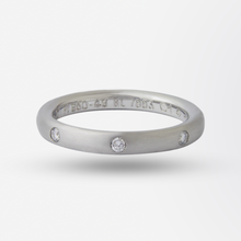 Load image into Gallery viewer, Platinum Van Cleef & Arpels Infini Etoile Diamond Band