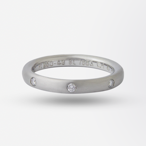 Platinum Van Cleef & Arpels Infini Etoile Diamond Band