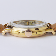 Load image into Gallery viewer, 18kt Gold Men's Wristwatch by Zelus