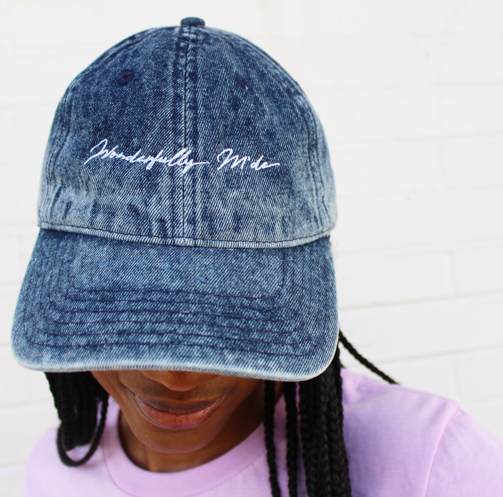 Wonderfully M'de Blue Denim Dad Hat