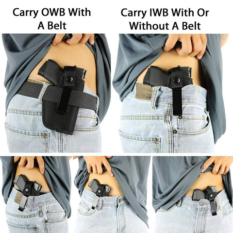 Universal holster carry position