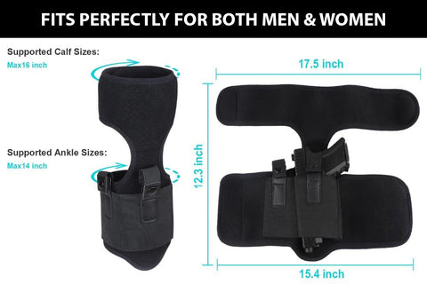 ANKLE HOLSTER FOR GLOCK S&W M&P RUGAR