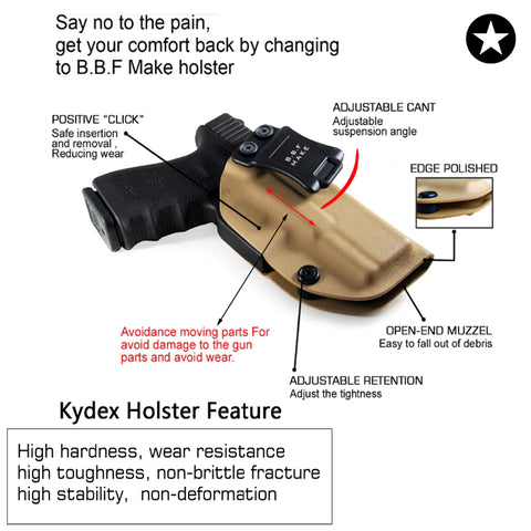 kydex holster for most glock handgun